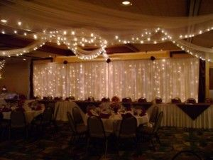 Pipe And Drape Wedding Backdrops