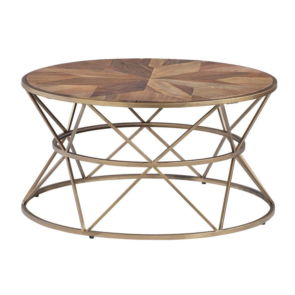Progressive Furniture Soho Sundance Gold Medal Round Cocktail Table T458 01 The Home Depot Round Metal Coffee Table Coffee Table Metal Coffee Table [ 1000 x 1000 Pixel ]