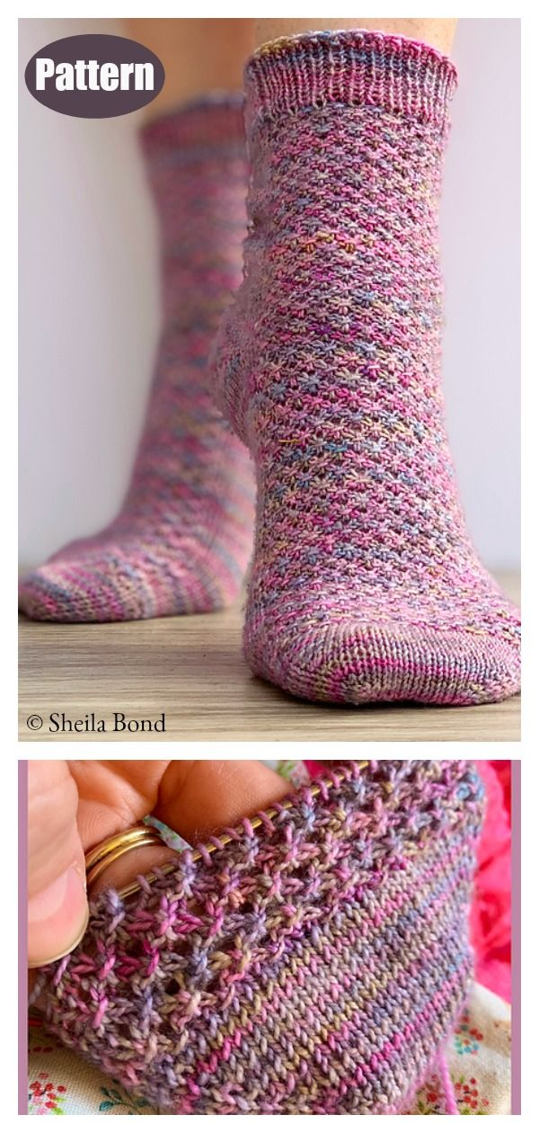 Hedgehog Socks Knitting Pattern #freeknittingpatterns