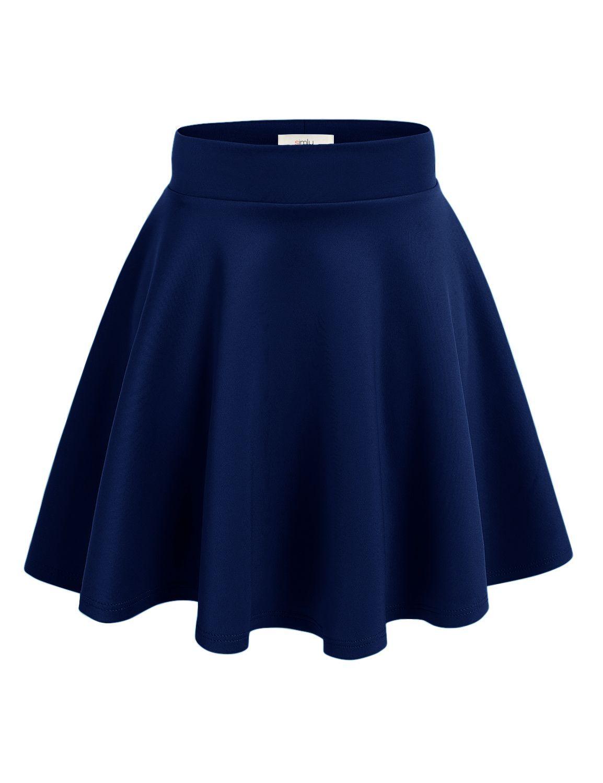 f21638b0f9 Simlu Womens Skater Skirt, A Line Flared Skirt Reg & Plus Size Skater Skirts  USA