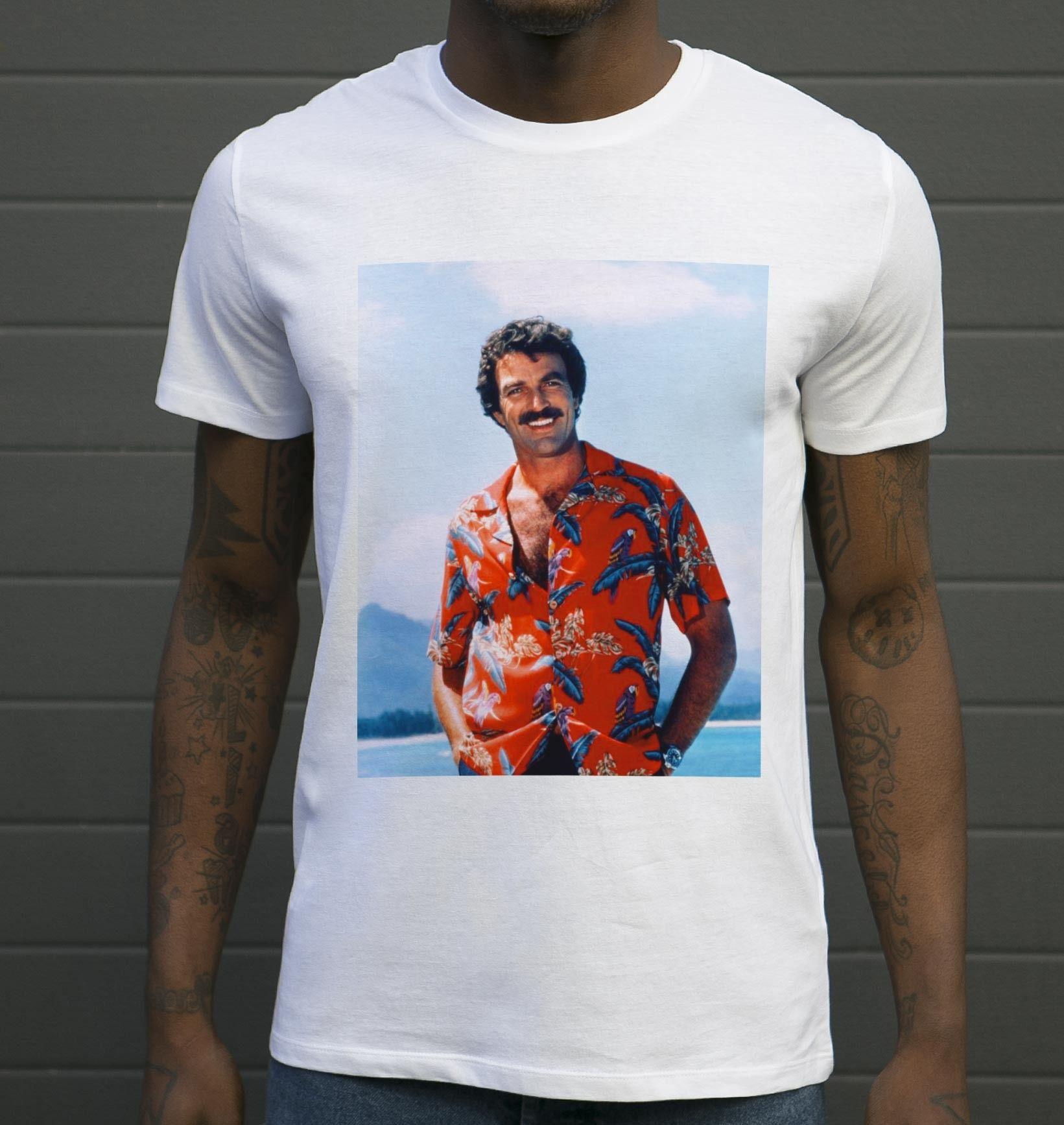 de nombreux styles le dernier dernière conception T-shirt Magnum - Tshirt Tom Selleck en Chemise Hawaïenne | Chemise ...