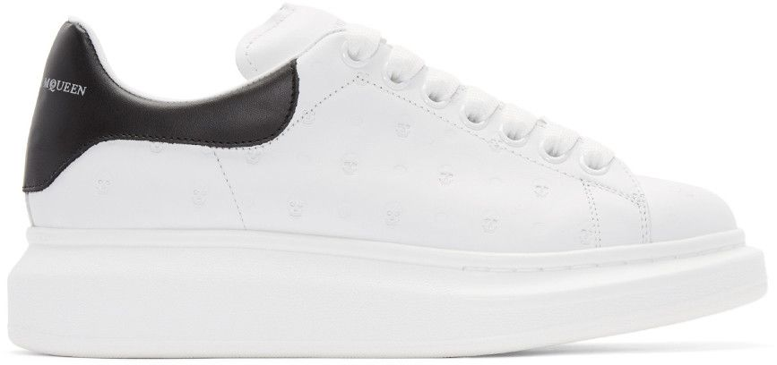 buy popular 0874d 8a1e0 ALEXANDER MCQUEEN White Leather Embossed Sneakers. alexandermcqueen shoes  sneakers Alexander Mcqueen Baskets