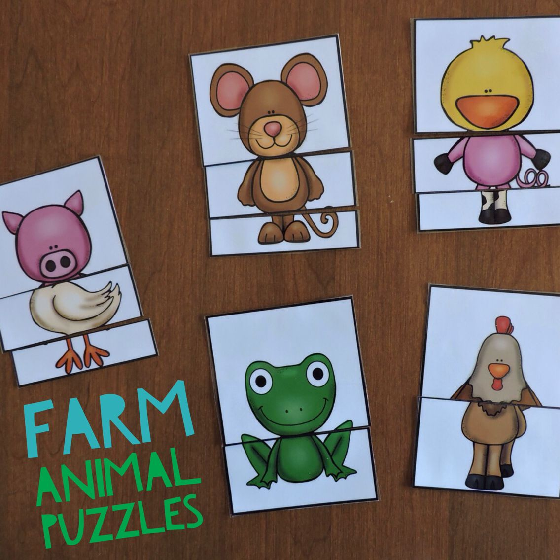 Farm Animal Puzzles Make Regular Animals Or Combine The