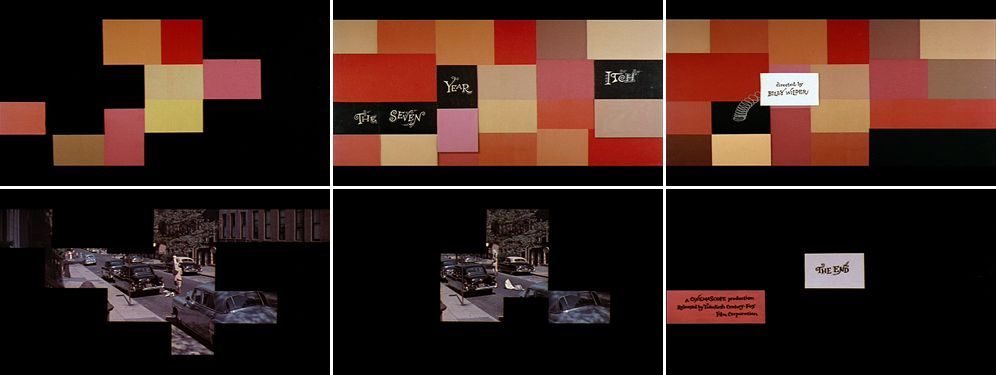 Saul Bass The seven year itch 1955 title sequence | Posters