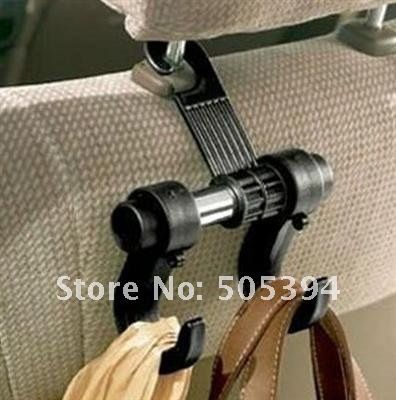 Car Hanger Auto bags organizer coat hook accessories holder - What a great idea to keep your purse off the floor!