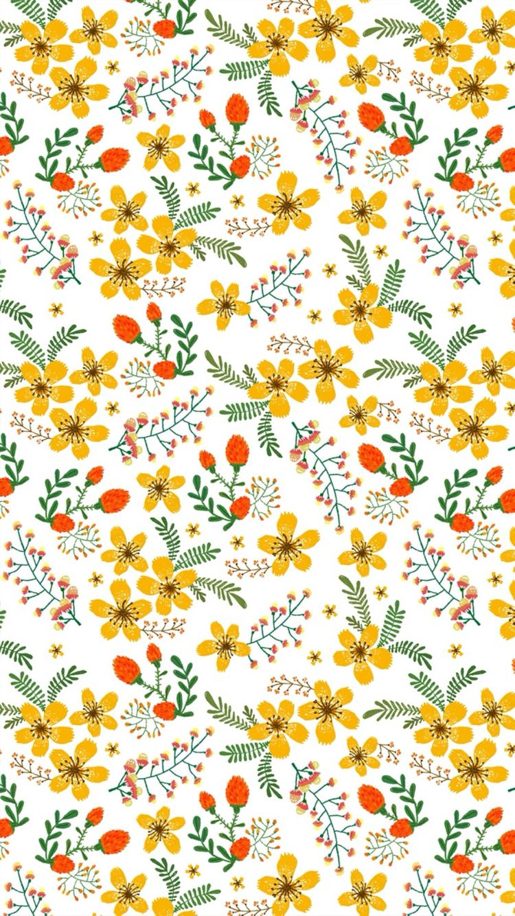 Pin By Thao Tran On Pattern Iphone Wallpaper Yellow Flower
