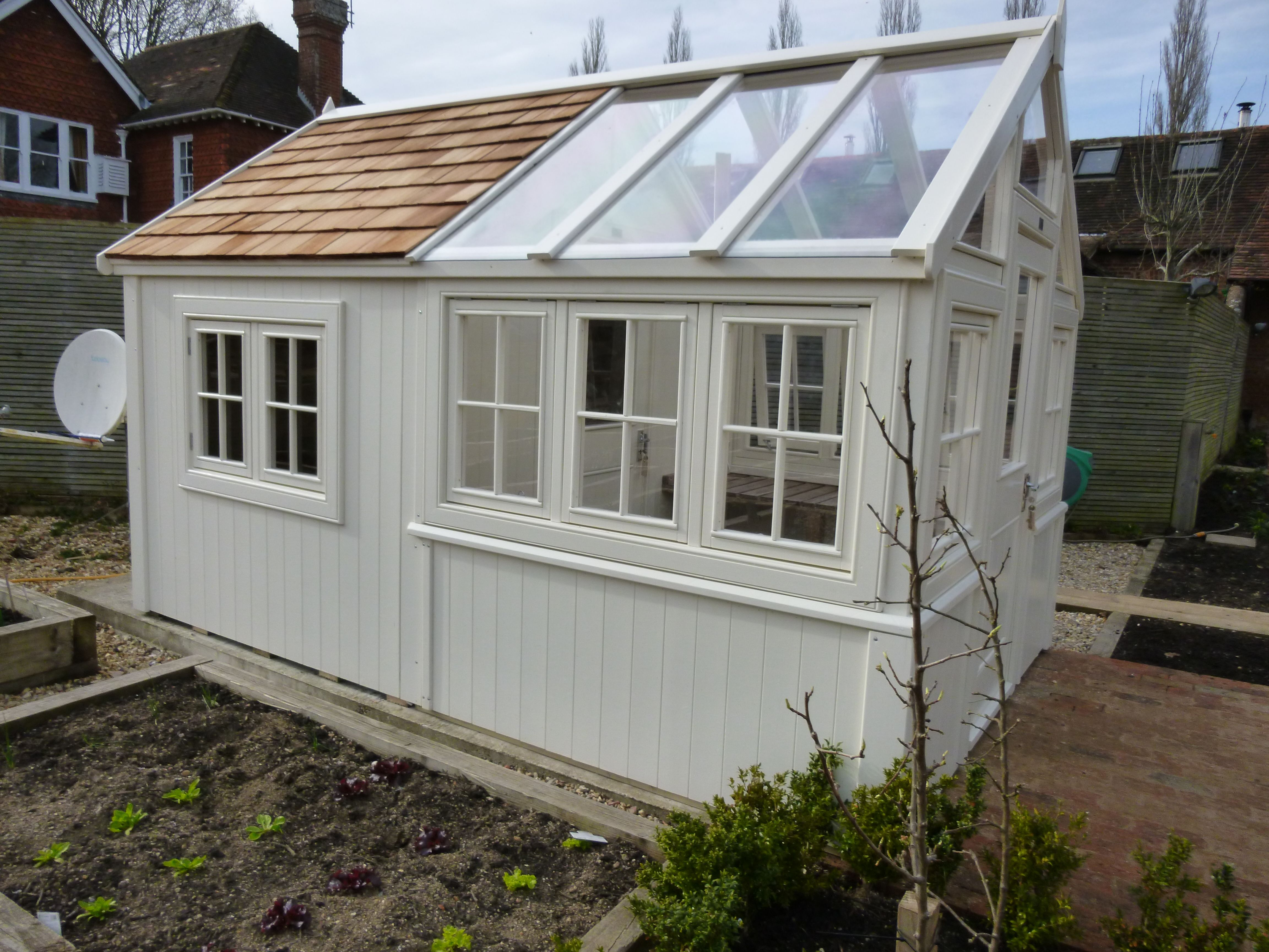 bespoke greenhouse combined posh shed - Garden Sheds Greenhouses Combined