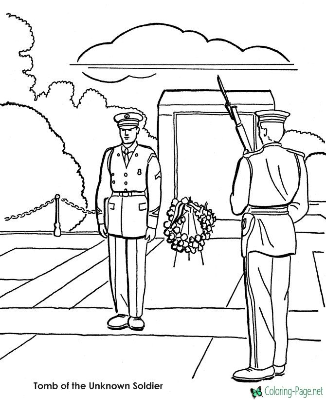 Veterans Day coloring pages | Coloring Pages | Pinterest