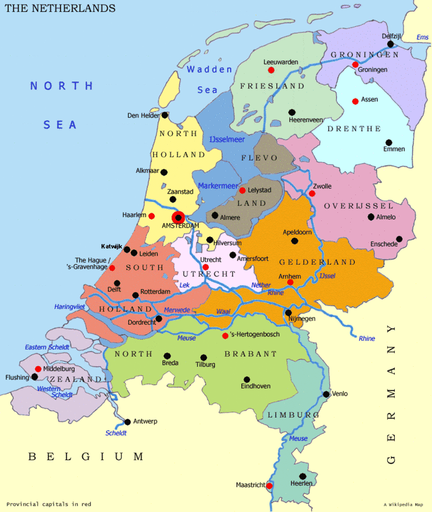 holland auf der karte holland karte. | Niederlande, Niederlande karte, Niederlande holland