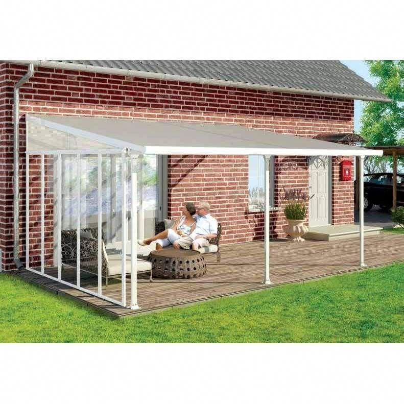 Palram Feria White 10ft X 20ft Patio Cover Feria Patio Cover 10 X 20 White Size 10 X 20 Aluminum 702725 Patio Enclosures Patio Design Covered Patio