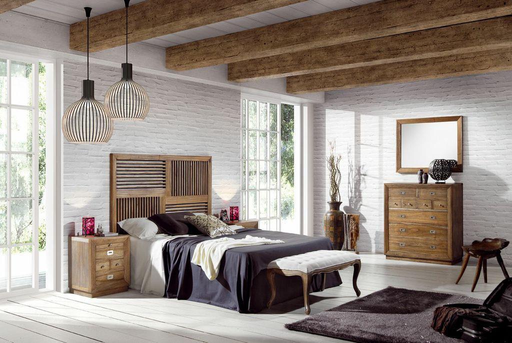 Dormitorios Matrimonio Rustico Moderno : Dormitorio colonial de matrimonio merapi dormitorios mueble