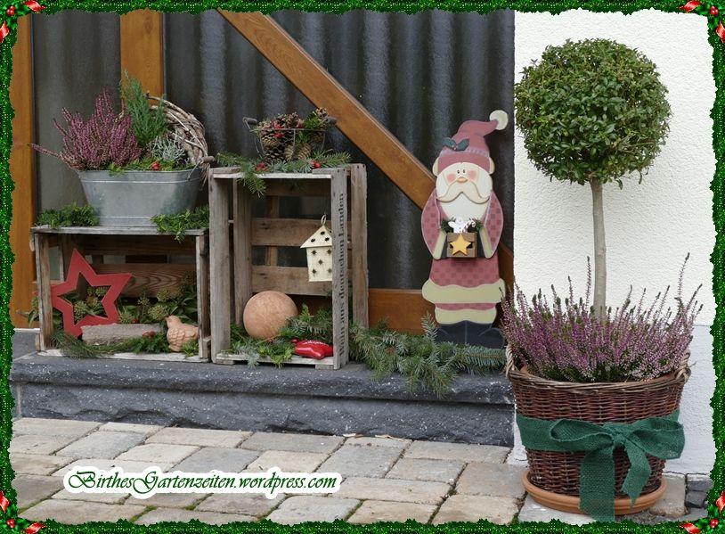 Es weihnachtet sehr… Etwas outdoor-Deko… #weinkistendekoweihnachten
