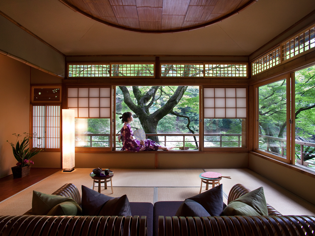 Room With A View Hoshinoya Kyoto Tsuki Twin Suite Japanese Home Design Japanese Style House Traditional Japanese House