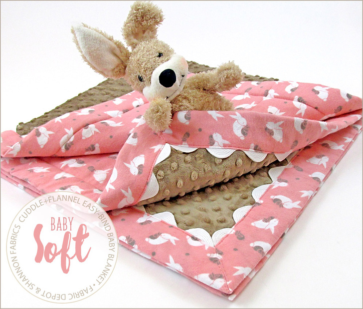 Cuddle + Flannel Baby Blanket With Easy Binding: Fabric