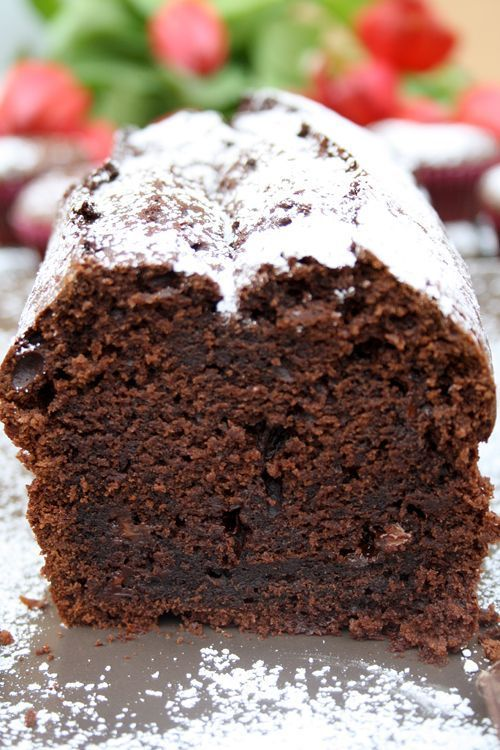 Photo of Sinful chocolate cake with chocolate pieces and vanilla