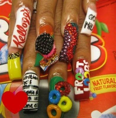 10 Outrageous Nail Art Designs With Images Crazy Nails Crazy