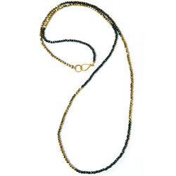 """36"""" Gold Mirror Hematite Necklace"""