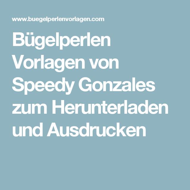 Bügelperlen Vorlagen von Speedy Gonzales zum Herunterladen und Ausdrucken