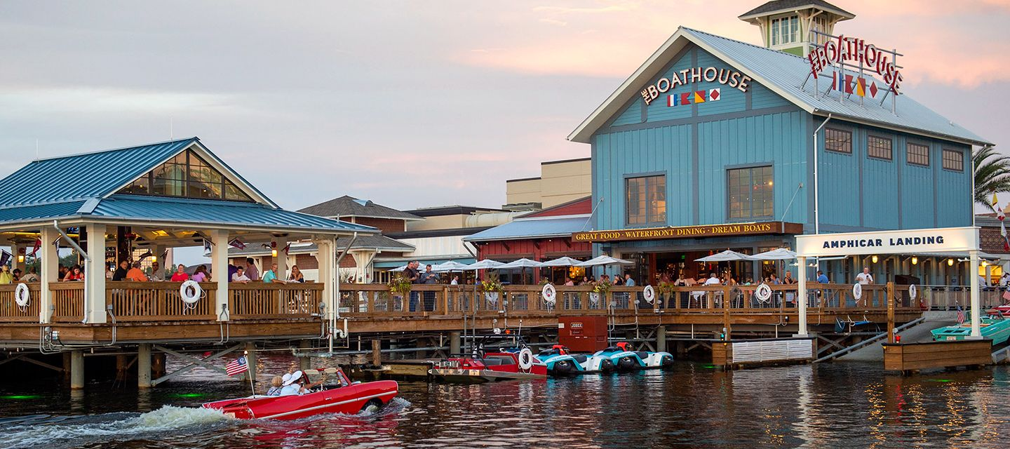 Cruise Lake Buena Vista And See Disney Springs From The Water Aboard A Vintag Oceanfront Vacation Rentals Beach Rental Property North Carolina Vacation Rentals