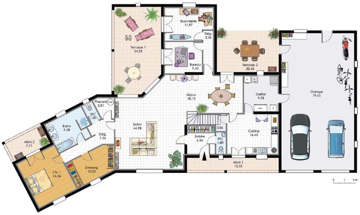 Un plan de grande maison de deux tages avec suite for Plan maison deux etages