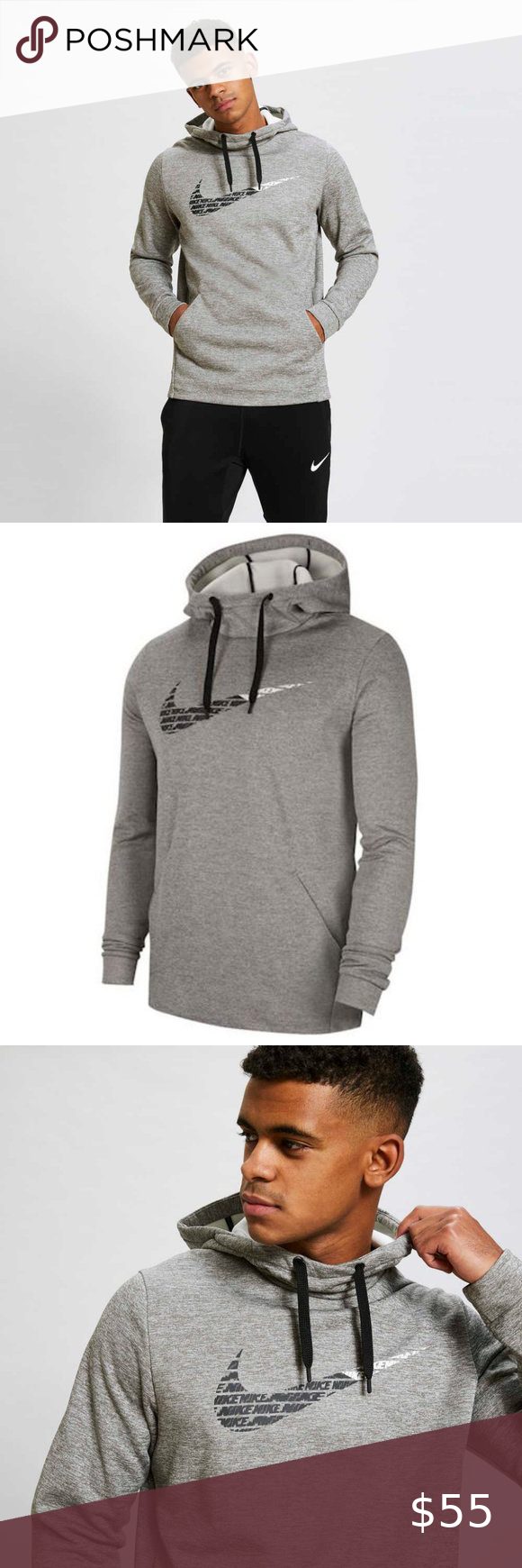 Nike Therma Gfx 2 2 Hooded Sweatshirt Hooded Sweatshirts Fashion Grey Nike Hoodie [ 1740 x 580 Pixel ]