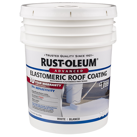 Rust Oleum 10 Year Elastomeric Roof Coating Provides A High Initial Reflectivity Value Of 75 Energy Eff Roof Coating Elastomeric Roof Coating Galvalume Roof