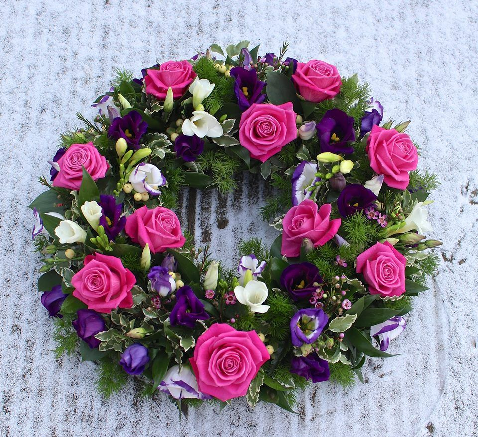 Funeral tribute purple pink google search sympathy flowers funeral tribute purple pink google search izmirmasajfo Images