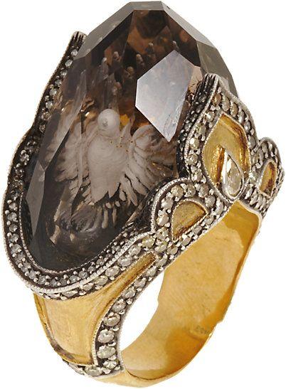 Sevan Bicakci Dove Carved Topaz Ring - Rings - Barneys.com