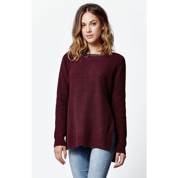 La Hearts Side Zip Tunic Sweater ($45) ❤ liked on Polyvore ...
