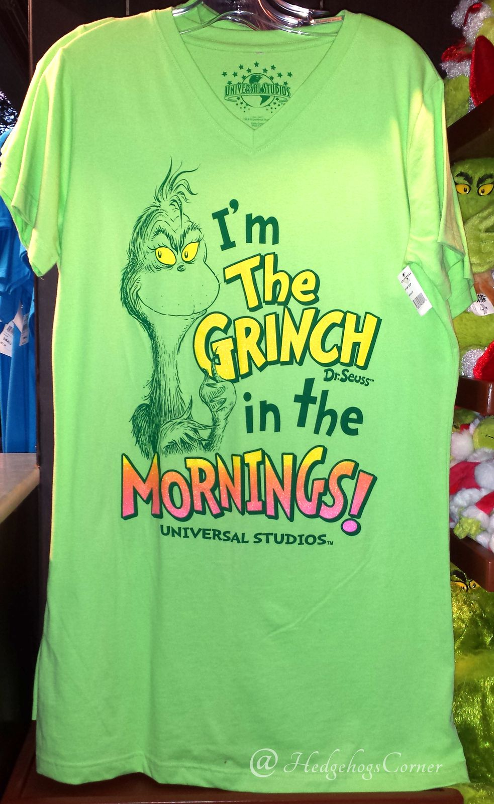 Dr Seuss I m The Grinch in the Mornings! Nightgown Sleep Shirt Authentic  NEW  hedgehogscorner- select size abf8c029e