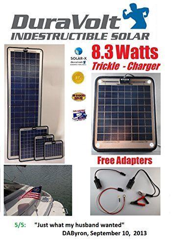 End Of Sept Sale 8 3 Watt 12v Duravolt Solar Battery Charger Plug Play Boat Rv Marine Solar Panel Semi Flexible 11 8 L X 10 0 W X 1 4 T