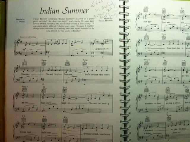 "1919 Victor Herbert wrote ""Indian Summer""    1939 Al Dubin wrote lyrics    in 2011 I re-imagined it for Waba"