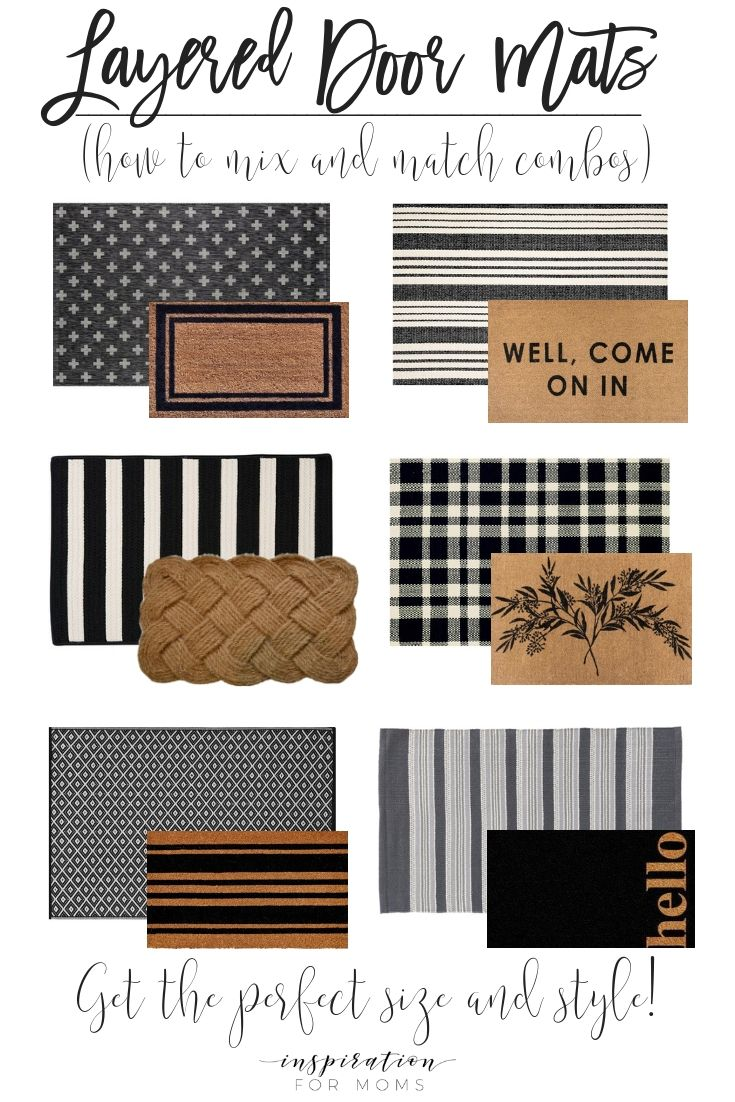 Layered Door Mats - How To Mix and Match #smallporchdecorating