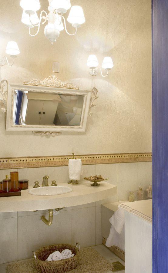 FAZENDA SAN RAFAEL : banheiros coloniais por DUPLA ARQUITETURA ESTRATÉGICA