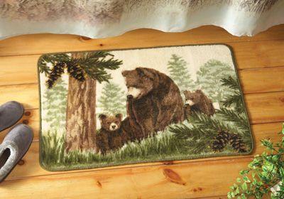 Northwoods Black Bear Bath Rug