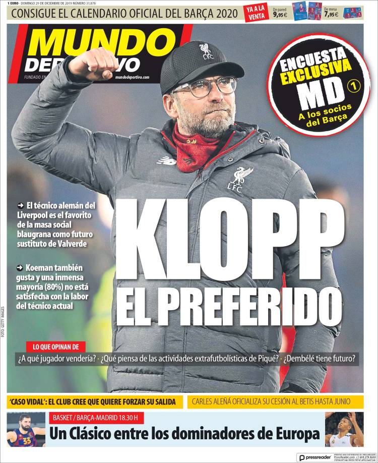 20191229 Periódico El Mundo Deportivo (España