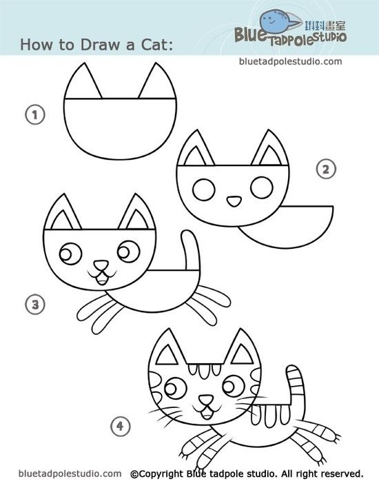Step by step 39 how to draw 39 many different things for kids for Fun stuff to draw step by step