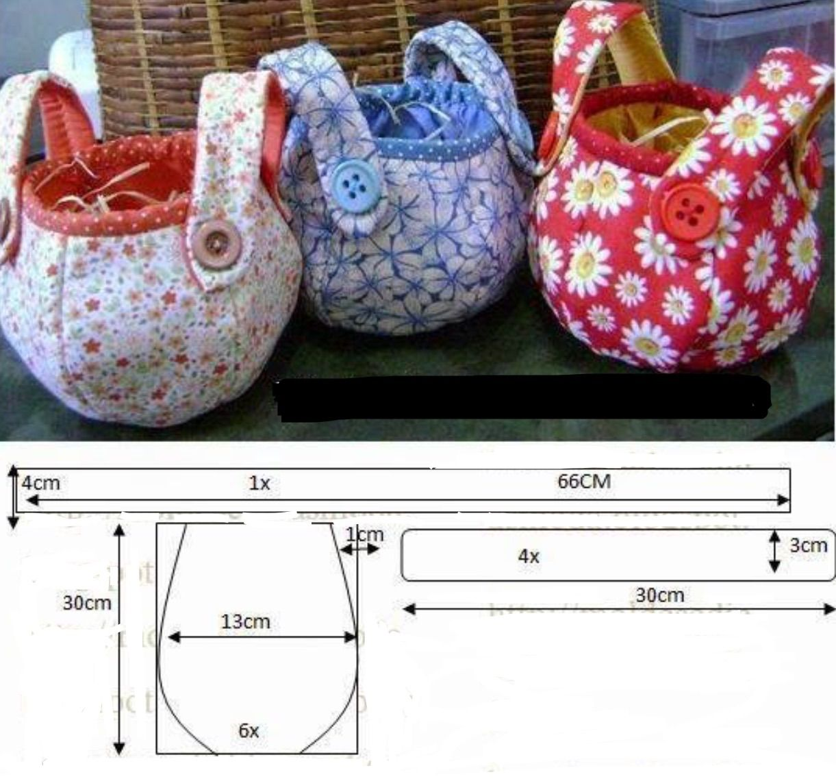 Bag pattern instructions not in english sewing bags all free sewing pattern for fabric baskets with handles jeuxipadfo Image collections