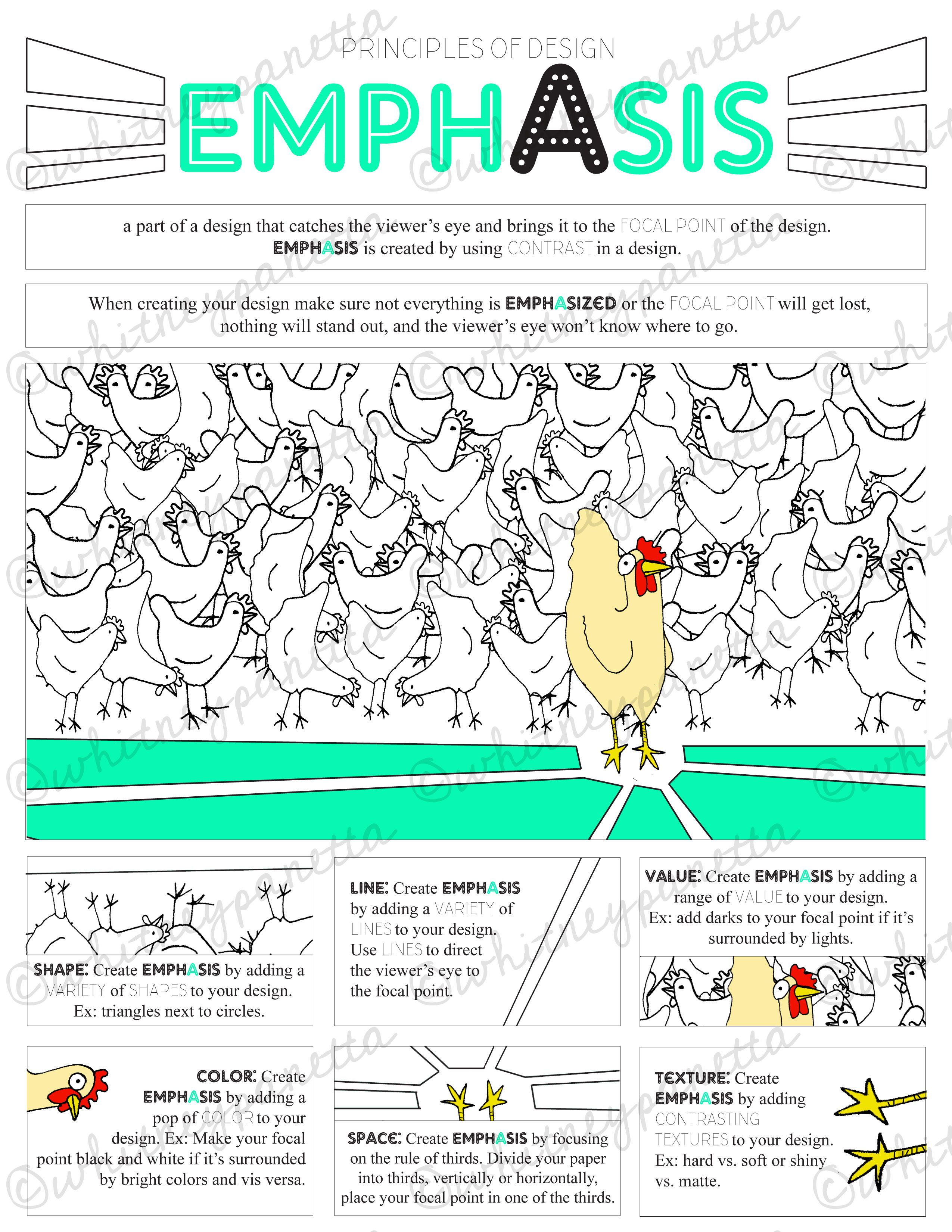 Principles Of Design Art Activities : Principles of design emphasis worksheet middle and high