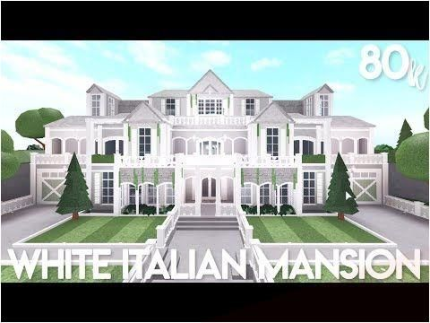 Mar 8 2020 Bloxburg White Italian Mansion Exterior Speed Build Youtube In 2020 Italian Mansion Two Story House Design Mansions