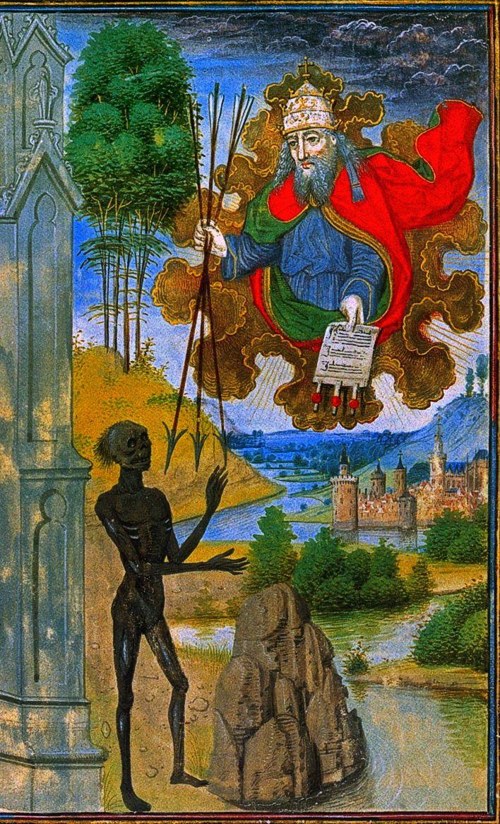 Jean Miélot. Le Miroir de la Salvation Humaine. Death Charter Speculum. FR. 1450.