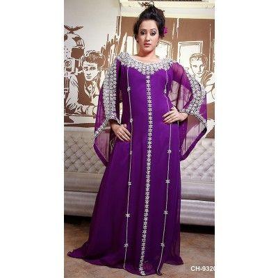 #Abayas & #Kaftans Purple Color Long Sleeve Kaftan$150.00