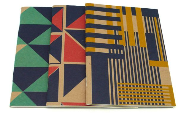 Geometric notebook covers