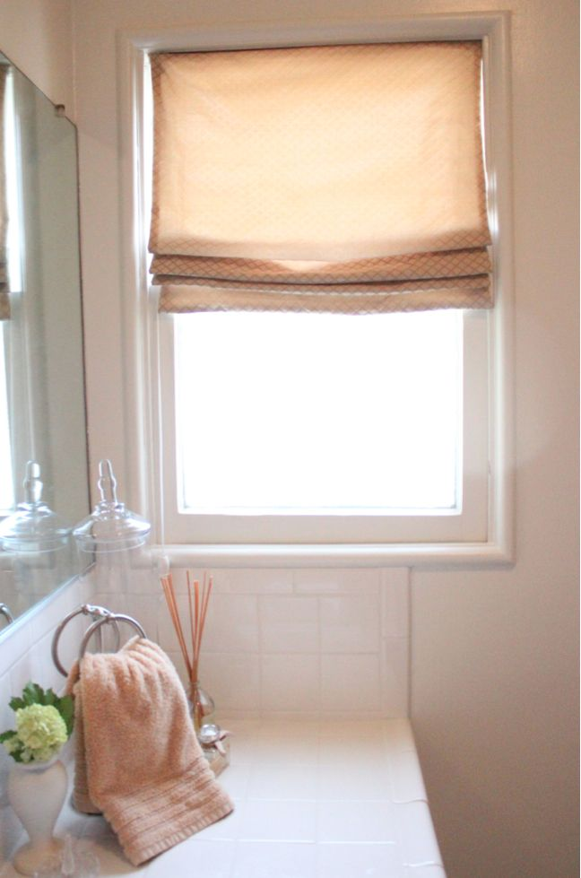 Diy Working Roman Shade You Can Raise And Lower To Your Liking