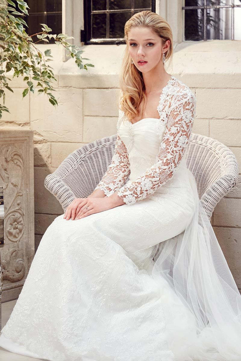 Long sleeved wedding dress - Tia by Benjamin Roberts | Wedding-here ...