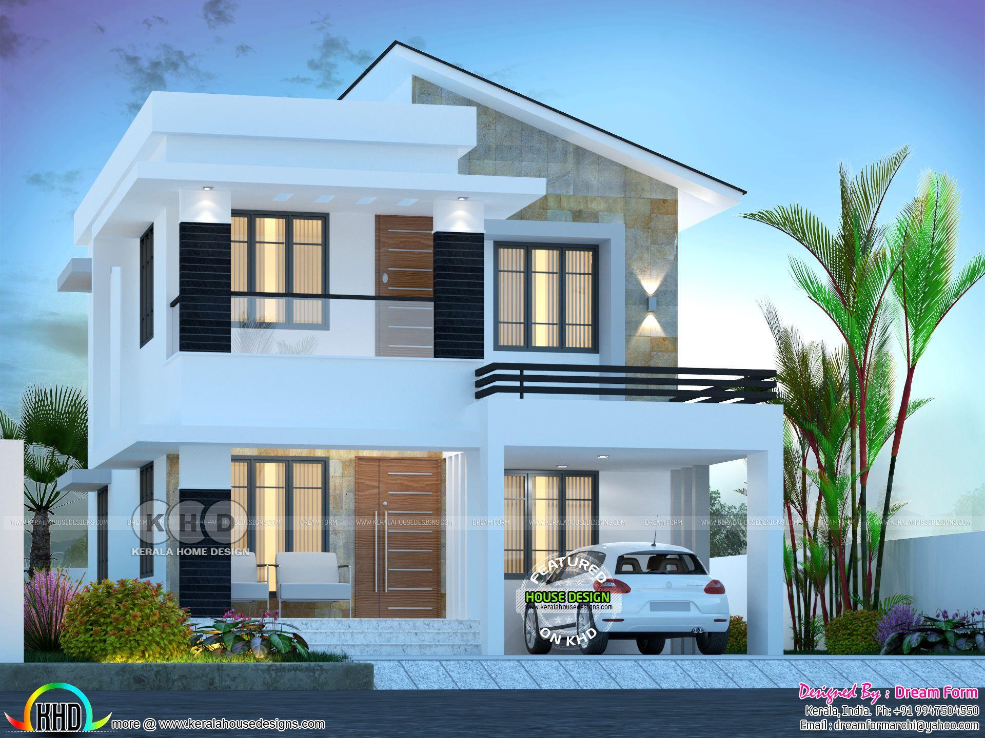 3 Bedroom 1750 Sq Ft Beautiful Modern Home Design Duplex House Design 2 Storey House Design Bungalow House Design