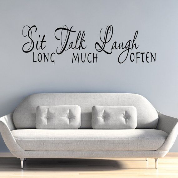 Sit Talk Laugh Quote Wall Sticker, Quote Wall Decals, Inspirational ...