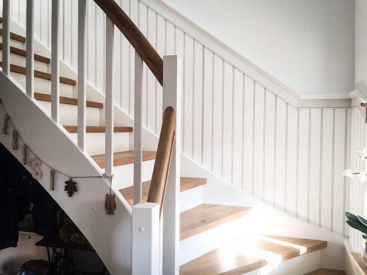Beadboard De Wandverkleidung Treppenaufgang Treppenaufgang Wandverkleidung Treppe Haus