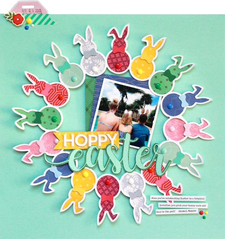 Hoppy Easter layout inspiration with Lisa Dickinson! | Scrapbook & Cards Today magazine