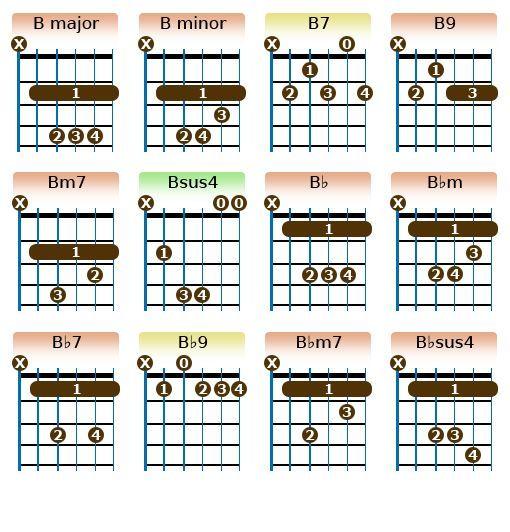B Chords Guitar Tips And Tricks Pinterest Guitars Reading